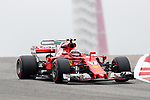 Ferrari driver Kimi Raikkonen (7) of Finland in action before the Formula 1 United States Grand Prix race at the Circuit of the Americas race track in Austin,Texas.