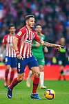 Saul Niguez Esclapez of Atletico de Madrid in action during the La Liga 2018-19 match between Atletico de Madrid and Deportivo Alaves at Wanda Metropolitano on December 08 2018 in Madrid, Spain. Photo by Diego Souto / Power Sport Images