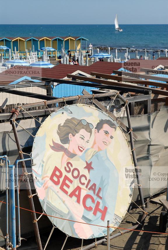 - Lido di Ostia, bathing establishment....- Lido di Ostia, stabilimento balneare