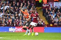 Joe Rodon of Swansea City vies for possession with Tammy Abraham of Aston Villa during the Sky Bet Championship match between Aston Villa and Swansea City at Villa Park in Birmingham, England, UK.  Saturday 20 October  2018
