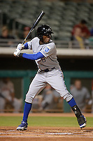 Peoria Javelinas infielder Orlando Calixte (8), of the Kansas City Royals organization, during an Arizona Fall League game against the Mesa Solar Sox on October 17, 2013 at HoHoKam Park in Mesa, Arizona.  Mesa defeated Peoria 6-1.  (Mike Janes/Four Seam Images)