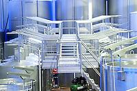 Fermentation tanks. Henrque HM Uva, Herdade da Mingorra, Alentejo, Portugal