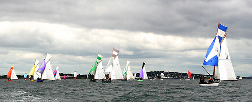 The 1898-founded Howth 17s – seen here in the Lambay Race on June 12th - are gradually pushing towards their full number of 20 boats for the 2021 season. Photo: Patricia Nixon