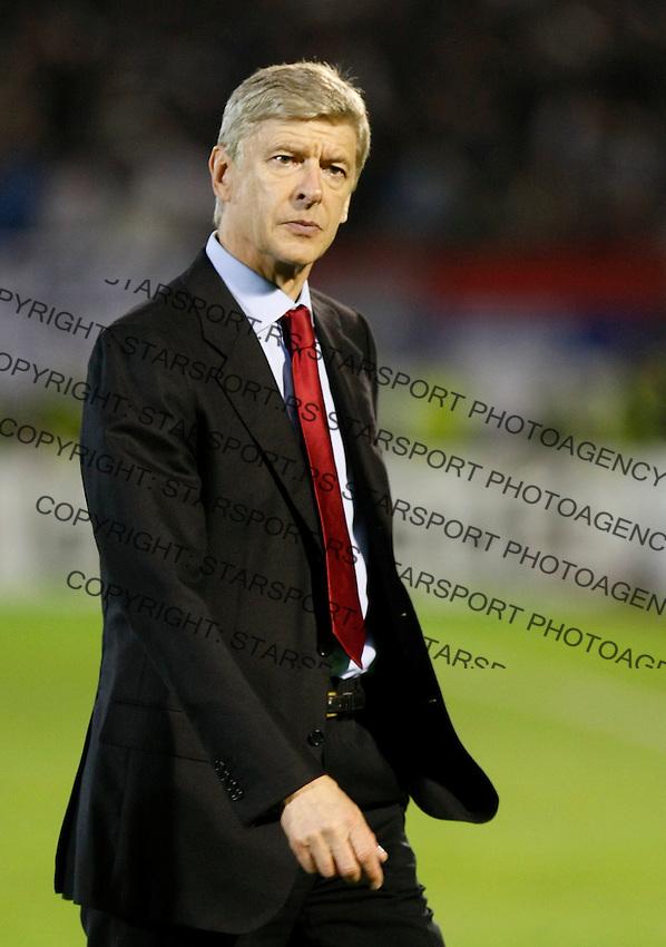 Arsenal manager Arsene Wenger, during  UEFA Champions league match in group H FC Partizan Belgrade Vs. Arsenal, London, Serbia, Monday, Sept. 28, 2010.  (Srdjan Stevanovic/Starsportphoto.com)