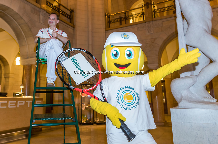 Rotterdam, Netherlands, 09 Februari, 2018, City Hall, Official Draw,  reception with Bally <br /> Photo: Tennisimages/Henk Koster