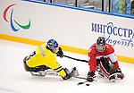 Ben Delaney, Sochi 2014 - Para Ice Hockey // Para-hockey sur glace.<br /> Team Canada takes on Sweden in Para Ice Hockey // Équipe Canada affronte la Suède en para-hockey sur glace. 08/03/2014.