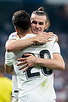 Real Madrid Gareth Bale and Marco Asensio celebrationg a goal during La Liga match between Real Madrid and Getafe CF at Santiago Bernabeu in Madrid, Spain. August 19, 2018. (ALTERPHOTOS/Borja B.Hojas)