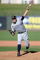 Salt River Rafters pitcher Mike Montgomery (29), of the Tampa Bay Rays organization, during an Arizona Fall League game against the Surprise Saguaros on October 14, 2013 at Surprise Stadium in Surprise, Arizona.  Salt River defeated Surprise 3-2.  (Mike Janes/Four Seam Images)