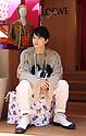 Japanese actor Ryo Yoshizawa visits Loewe's pop-up store