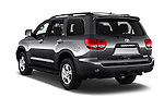 Car pictures of rear three quarter view of 2017 Toyota Sequoia SR5 5 Door SUV Angular Rear