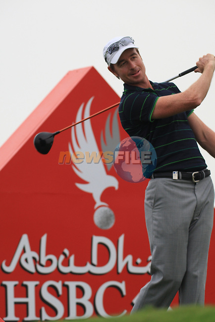 Brett Rumford teeing off on the third tee on the second on day one of the Abu Dhabi HSBC Golf Championship 2011, at the Abu Dhabi golf club 20/1/11..Picture Fran Caffrey/www.golffile.ie.
