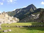 The lost city of Machu Picchu in Peru.