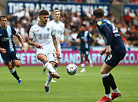 25th September 2021; Swansea.com Stadium, Swansea, Wales; EFL Championship football, Swansea versus Huddersfield; Jamie Paterson of Swansea City passes the ball