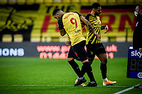 7th November 2020; Vicarage Road, Watford, Hertfordshire, England; English Football League Championship Football, Watford versus Coventry City; Troy Deeney replaces Andre Gray for Watford.