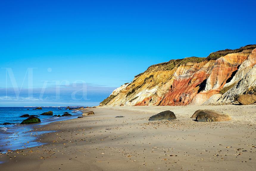 Moshup beach and clay cliffs, Aquinnah, Martha's Vineyard, Massachusetts,, USA