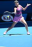 Victoria Azarenka (BLR) loses to Agnieszka Radwanska (POL) 6-1, 5-7, 6-0 At the Australian Open in Melbourne, Australia on January 22, 2014