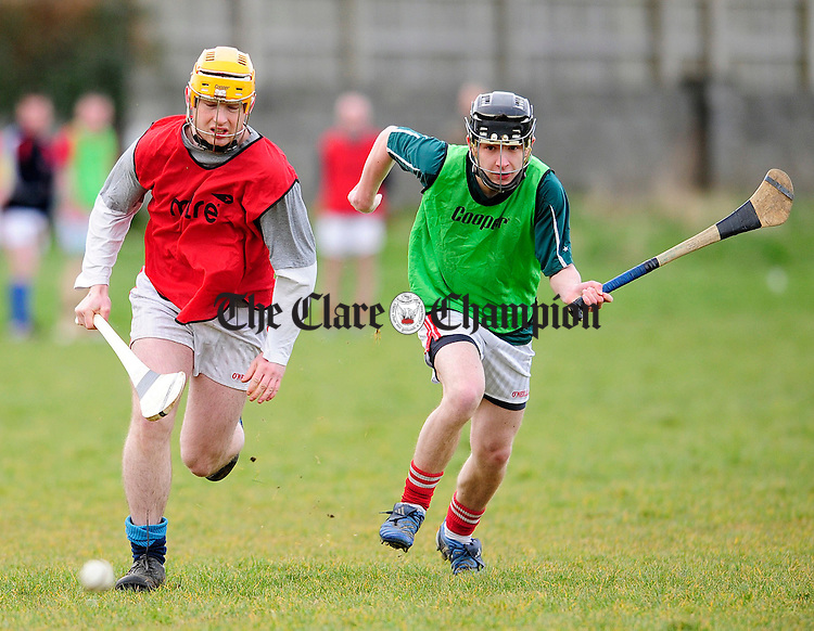Action from the Town League Final at eire Og.Pic Arthur Ellis.