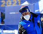 FIS Alpine World Ski Championships 2021 Cortina . Cortina d'Ampezzo, Italy on February 17, 2021. Alpine Team Event, Alessandro Trovati (Photographer Chief of the LOC) wearing a mask.
