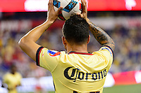 Harrison, NJ - Wednesday July 06, 2016: Osmar Mares during a friendly match between the New York Red Bulls and Club America at Red Bull Arena.