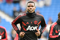 Paul Pogba of Manchester United (6) Warms up  during the Premier League match between Brighton and Hove Albion and Manchester United at the American Express Community Stadium, Brighton and Hove, England on 19 August 2018. Photo by Edward Thomas / PRiME Media Images.