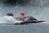 48-N races through the spray. (hydro)