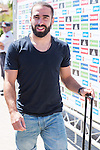 Spanish player Daniel Carvajal arrives to concentration of Spanish football team at Ciudad del Futbol de Las Rozas before the qualifying for the Russia world cup in 2017 August 29, 2016. (ALTERPHOTOS/Rodrigo Jimenez)