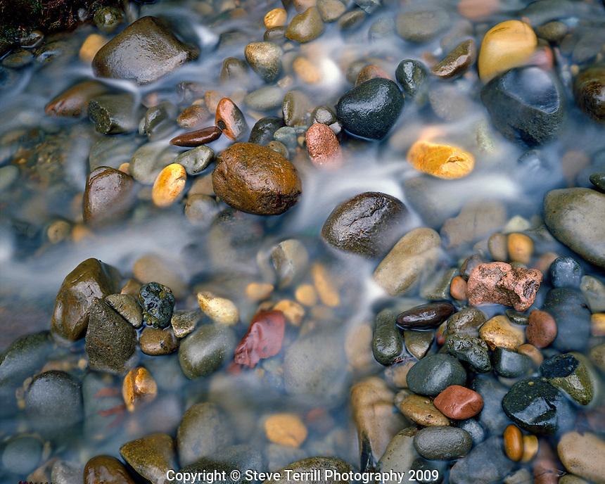 Rocks in Mist Creek in Columbia River Gorge National Scenic Area, Oregon