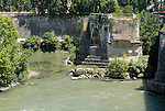 Arch of the Pons Aemilius today called Ponte Rotto (Broken Bridge) is the oldest stone bridge in Rome.