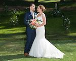 Josh and Lauren Carlton, the bride and groom.