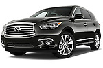 Low Aggressive Front Three Quarter View of 2013 Infiniti QX35 / JX35