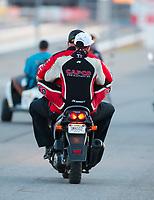 Nov 1, 2020; Las Vegas, Nevada, USA; NHRA top fuel driver Steve Torrence during the NHRA Finals at The Strip at Las Vegas Motor Speedway. Mandatory Credit: Mark J. Rebilas-USA TODAY Sports