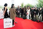 "Miranda Gas, Olivia Delcan and Melina Matthews pose to the media during the presentation of the film ""Blood Red Carpet"" at Festival de Cine Fantastico de Sitges in Barcelona. October 13, Spain. 2016. (ALTERPHOTOS/BorjaB.Hojas)"