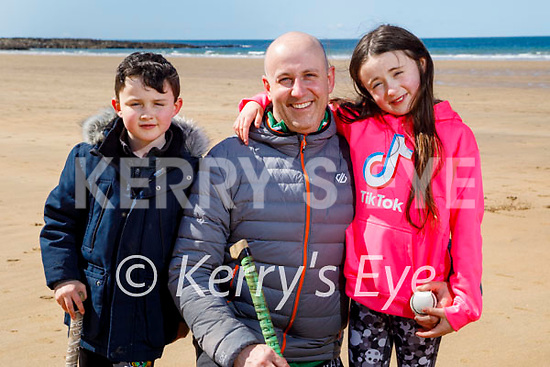 The Philips family enjoying Ballybunion beach, l to r: Conor, Liam and Allie Philips.
