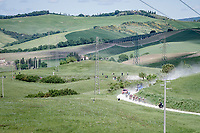"""breakaway group on the first gravel sector of the stage<br /> <br /> 104th Giro d'Italia 2021 (2.UWT)<br /> Stage 11 from Perugia to Montalcino (162km)<br /> """"the Strade Bianche stage""""<br /> <br /> ©kramon"""