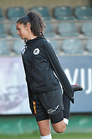 Aalst's Iman Saki  pictured during the warming up of a female soccer game between Eendracht Aalst and Racing Genk on the fifth matchday of the 2020 - 2021 season of Belgian Scooore Womens Super League , Saturday 28 th of November 2020  in Aalst , Belgium . PHOTO SPORTPIX.BE | SPP | DIRK VUYLSTEKE