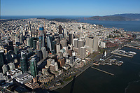 aerial photograph waterfront, San Francisco, California