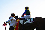 FUCHU,JAPAN-MAY 27: Wagnerian,ridden by Yuichi Fukunaga,after winning the Tokyo Yushun (Japanese Derby) at Tokyo Racecourse on May 27,2018 in Fuchu,Tokyo,Japan (Photo by Kaz Ishida/Eclipse Sportswire/Getty Images)