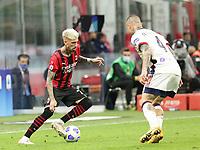Milano 12-05 2021<br /> Stadio Giuseppe Meazza<br /> Serie A  Tim 2020/21<br /> Milan - Cagliari<br /> Nella foto:   Samuel Castillejo                                   <br /> Antonio Saia Kines Milano
