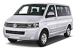 2014 Volkswagen CARAVELLE COMFORTLINE 4 Door Passenger Van Angular Front stock photos of front three quarter view