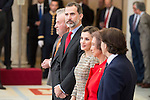 King Juan Carlos, King Felipe VI of Spain, Queen Letizia and Queen Sofia attends to the National Sports Awards 2015 at El Pardo Palace in Madrid, Spain. January 23, 2017. (ALTERPHOTOS/BorjaB.Hojas)