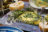 Using herbs, thyme, with cheese appetizer