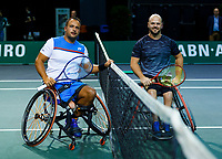 Rotterdam, The Netherlands, 12 Februari 2020, Wheelchair: Tom Egberink (NED), Stefan Olsson (SWE).<br /> Photo: www.tennisimages.com