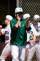 Dartmouth Big Green head coach Bob Whalen (2) during a game against the Iowa Hawkeyes on February 27, 2016 at South Charlotte Regional Park in Punta Gorda, Florida.  Iowa defeated Dartmouth 4-1.  (Mike Janes/Four Seam Images)