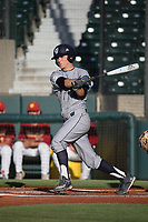 Parker Coss (4) of the UC Irvine Anteaters bats during a game against the Southern California Trojans at Dedeaux Field on April 18, 2017 in Los Angeles, California. UC Irvine defeated Southern California, 14-3. (Larry Goren/Four Seam Images)