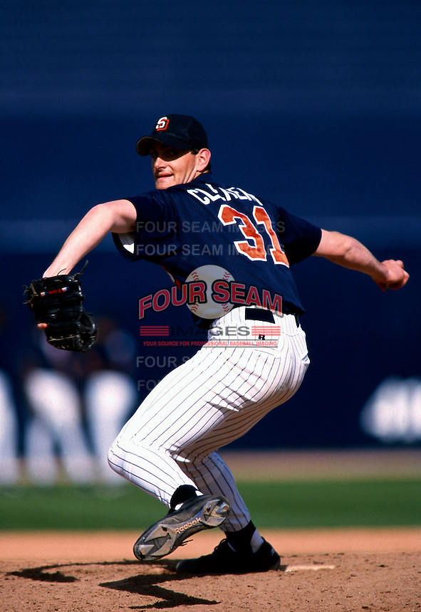 Matt Clement of the San Diego Padres participates in a Major League Baseball Spring Training game during the 1998 season in Phoenix, Arizona. (Larry Goren/Four Seam Images)