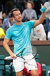 March 9, 2019: Philipp Kohlschreiber (GER) defeated Nick Kyrgios (AUS) 6-4, 6-4 at the BNP Paribas Open at the Indian Wells Tennis Garden in Indian Wells, California. ©Mal Taam/TennisClix/CSM
