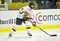 16 October 2010: University of Vermont Catamount forward/defender Breanne Sundquist, a Freshman from Avondale, AZ, in action against the Boston College Eagles at Gutterson Fieldhouse in Burlington, Vermont. The Lady Cats fell to the visiting Eagles 4-1 in the second game of their weekend series. Mandatory Credit: Ed Wolfstein Photo