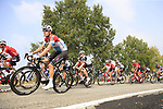 The peloton including Luxembourg National Champion Bob Jungels (LUX) Quick-Step Floors during the 99th edition of Milan-Turin 2018, running 200km from Magenta Milan to Superga Basilica Turin, Italy. 10th October 2018.<br /> Picture: Eoin Clarke | Cyclefile<br /> <br /> <br /> All photos usage must carry mandatory copyright credit (© Cyclefile | Eoin Clarke)