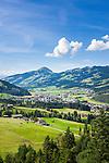 Austria, Tyrol, Kirchberg in Tyrol: at background Hohe Salve mountain | Oesterreich, Tirol, Kirchberg in Tirol: im Hintergrund die Hohe Salve