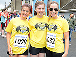 Elaine Corbett, Lauren and Elaine Corcoran who ran the Integral Clogherhead 10K. Photo:Colin Bell/pressphotos.ie